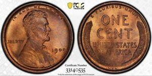 1909 VDB Lincoln Cent PCGS MS66RB Burnt Orange Gem Cartwheel Luster Gorgeous!!