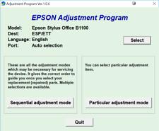 Reset Epson STYLUS OFFICE B1100 100%