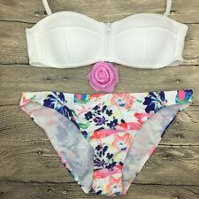 Sexy Women Swimsuit Swimwear Strappy Halter Bra Bathing Suit Bikini Set Size L