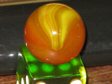 Very Rare Opalescnt Master Marble Vntge Red~Orange~Yellow Blended Multi Color