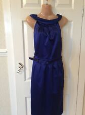 Austin Reed Cobult Blue Wiggle Pencil Dress Size 10 Exc Cond Hols 6/10 To 17/10