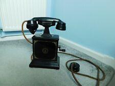 ANTIQUE ERICSSON BAKELITE HAND CRANK DESK RAILWAYS TELEPHONE