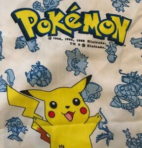 Vintage 1995 Pokemon Kids Teen Blanket 54 x 30 Inches Pikachu Charmander Ivysaur