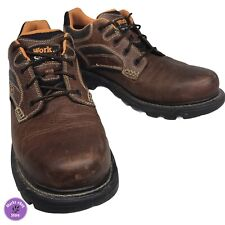 Work n Sport Leather Work Shoes Men's Size 14M ASTM F2892-11 EH Safety Toe #9420