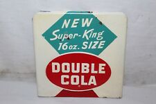Vintage 1950's Double Cola Super King 16oz. Size Soda Pop Gas Station Metal Sign