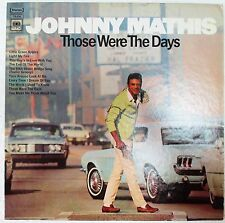 "Johnny Mathis ""Those Were The Days"" 1968 Original Record Vinyl LP CS9705 (EX)"