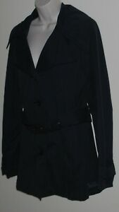 Billabong women's lined  black trench coat Size 12