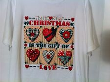 New Womens Christmas T-Shirt  Christmas Is The Gift Of Love Tee XL Xlarge