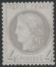 """FRANCE STAMP TIMBRE N° 52 """" TYPE CERES 4c GRIS 1872 """" NEUF xx TB"""
