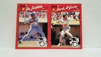 Uncirculated 1990 Donruss Mark McGwire + Bo Jackson All Star Cards