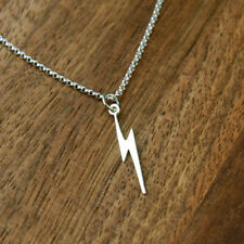 1Pcs  Chic Retro Tibetan Silver Lightning Bolt Strike Charm Necklace NEW