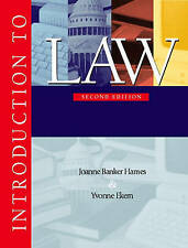 NEW Introduction to Law (2nd Edition) by Joanne Banker Hames