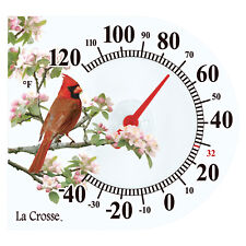"104-106 La Crosse 6"" Indoor/Outdoor Window Cling Thermometer - Cardinal"