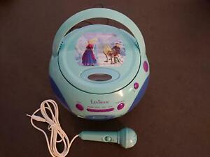 LEXIBOOK CD PLAYER RADIO KARAOKE MIKROFON Frozen Eiskönigin Olaf Elsa wie NEU