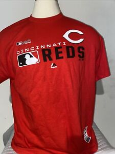 Mens Majestic Cincinnati Reds MLB Authentic Collection Baseball Tee T-Shirt L