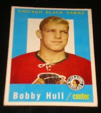 BOBBY HULL 2nd Year 1959 Topps #47 Chicago Black Hawks Hockey Card Printed in US