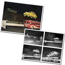 Photos - 1940 Plymouth Lucky Teter Thrill Show Jump Baltimore in 1942 (set of 2)