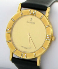 CORUM ROMULUS 35mm HERRENUHR 18kt 750er Gold Brillanten