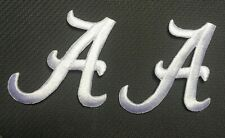 Alabama patch univ of AL white a iron on patches embroidered A emblem  2 pieces