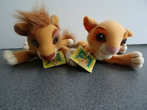 Disney Lion King 2 Simba's Pride Vitani Kiara Beanie Soft Toy Plush Mattel 1998