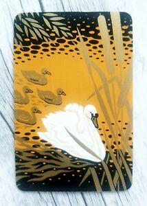 Swap Card, Beautiful Swan & Cygnets, Collectable Bird Playing Card