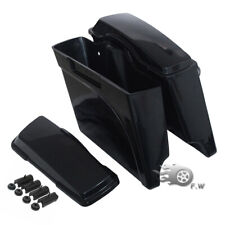 """Unpainted 5"""" Extended Stretched Saddle bags For Harley Road King Glide 1993-13"""