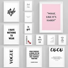 FASHION Wall Art Girl Boss stampe incorniciate Bellezza POSTER Arredamento Della Camera Da Letto Donna