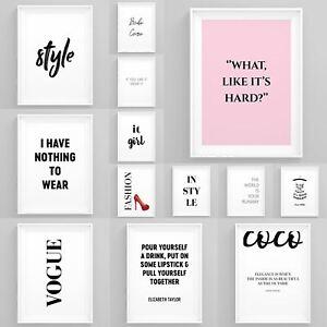 Fashion Wall Art Girl Boss Prints Framed Beauty Posters Female Bedroom Décor