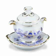 DOLLHOUSE Blue Onion Soup Tureen 1.397/5 Reutter Miniature