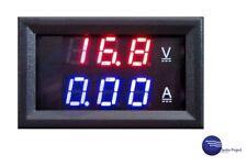 Amperímetro Voltímetro Digital 100V DC/10A // Medida Electricidad Color DIY Nuev