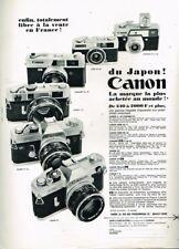D- Publicité Advertising 1968 Japon Appareil photo Canon