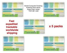 5 packs of Dental Finishing Polishing Discs Shofu Super-snap+strips TOR VM 1.020