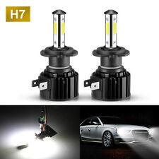 2x H7  LED Headlight Bulb Kit Hi/Lo Beam/Fog 6500K White Super Bright 4SIDES