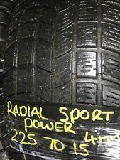 RADIAL SPORT POWER 225/70/15 4MM TYRE 225 70 15 TIRE FREE UK POST