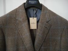 HACKETT MAYFAIR brown check LORO PIANA Favola wool-cashmere jkt 40R/50R RRP 550