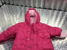 Old Navy Pink Outwear Durable Shell One Piece Pink Two Tone With Hood Mittens