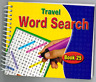 Spiral Bound Word Search Travel Books Kids Adults 170 Puzzles Book 25 - 3090