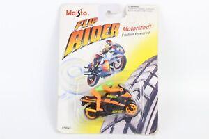 Vintage Maisto Motorcycle Toy KAWASAKI ZX 1000 Flip Rider Rare 3'' Friction