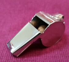 SMALL PLATED METAL WHISTLE