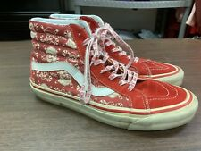 Vans 50th Anniversary SK8 STV Red/White/Pirate Skull Christmas Shoes - Size 9.5