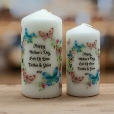 Birthday Mother's Mothers Day Personalised Candle Butterfly Design Present Gift