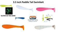 Swimbait 8 Pack - 3.5 Inch - Paddle Tail Action - Shad Scented