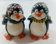 Bico China Adorable Christmas Penguins Ceramic Salt & Pepper Shakers with Corks