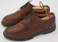 Men's 9.5D M Allen Edmonds Passenger Brown Leather Oxford Shoes Lace-Up USA Made