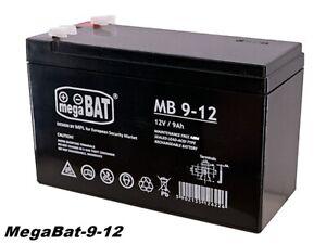 MegaBAT AGM USV Batterie MB-9-12 VRLA 12V 9Ah Notstromversorgung  wartungsfrei
