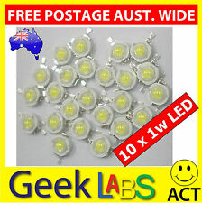 10 x High Power 1w LED Lamp Bulb Chip