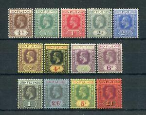 FIJI 1912-23 KEVII DIE I SET TO £1 SG12125/37 FRESH MINT
