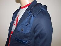 ARMANI EXCHANGE Authentic Hooded Contrast Jacket Indigo NWT