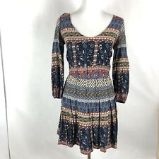 Hollister Jr Women Size XS Short Dress Floral pattern Long Sleeve Lightweight