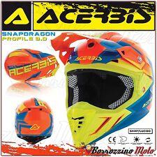 Acerbis Casco Profile 3.0 Snapdragon Motocross Offroad Rosso/giallo lucido Tg. S